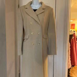 Nordstrom Cream Cashmere double breasted Midi Coat